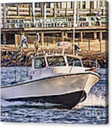 Hdr Boat Boats Sea Ocean Fishing Jetty Boadwalk Photos Pictures Photography Scenic Landscape Pics Acrylic Print by Pictures HDR