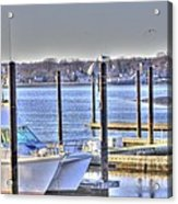 Hdr  Boat Waiting Wanting Yet Tied Acrylic Print by Pictures HDR