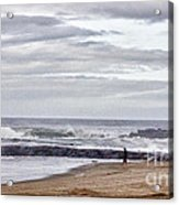 Hdr Two Light Towers Beach Beaches Ocean Sea Seaview Oceanview Photos Pictures Photography Photo Pic Acrylic Print by Pictures HDR