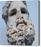 Head Of Zeus At The Acropolis Museum Acrylic Print by Richard Nowitz