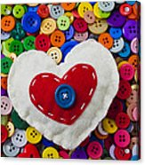 Heart Buttons Acrylic Print by Garry Gay