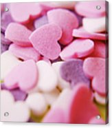 Heart Shaped Candies Acrylic Print by Rolfo