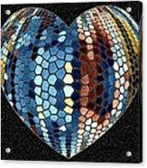 Heartline 4 Acrylic Print by Will Borden