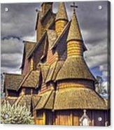 Heddal Stave Church  Acrylic Print by Heiko Koehrer-Wagner