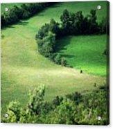Hedged Farmland Acrylic Print by Photo Marylise Doctrinal
