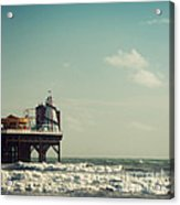 Helter-skelter On Brighton Pier  Acrylic Print by Paul Grand