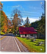 Helvetia Wv Painted Acrylic Print by Steve Harrington