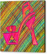 High Heels Power Acrylic Print by Pierre Louis
