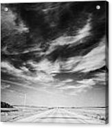 Highway Through Land Of The Living Skies Saskatchewan Canada Acrylic Print by Joe Fox