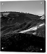 Hills Of Light And Darkness II Acrylic Print by Steven Ainsworth