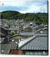 Hillside Village In Japan Acrylic Print by Daniel Hagerman