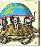 Hindu Cosmological Myth Acrylic Print by Sheila Terry