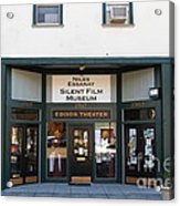 Historic Niles District In California Near Fremont . Niles Essanay Silent Film Museum.edison Theater Acrylic Print by Wingsdomain Art and Photography