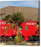 Historic Niles District In California Near Fremont . Western Pacific Caboose Train . 7d10718 Acrylic Print by Wingsdomain Art and Photography