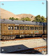 Historic Niles Trains In California . Old Western Pacific Passenger Train . 7d10836 Acrylic Print by Wingsdomain Art and Photography