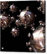 Hiv Particles Acrylic Print by Robert Brocksmith