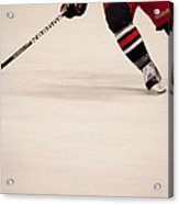 Hockey Stride Acrylic Print by Karol Livote