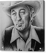 Hollywood Greats -robert Mitchum Acrylic Print by Andrew Read