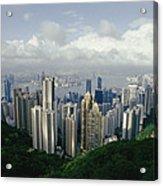 Hong Kong Island And The Bay Acrylic Print by Jason Edwards