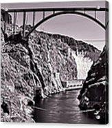 Hoover Dam Bridge Acrylic Print by Andre Salvador