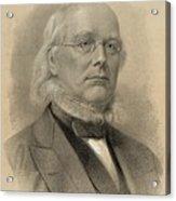 Horace Greeley 1811-1872, Ca. 1872 Acrylic Print by Everett