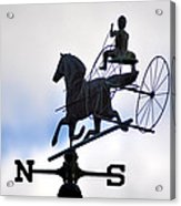 Horse And Buggy Weather Vane Acrylic Print by Bill Cannon