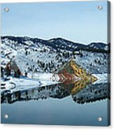 Horsetooth Reflections Acrylic Print by Julie Magers Soulen