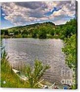 Horsetooth Reservoir Summer Scene Acrylic Print by Harry Strharsky