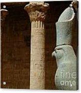 Horus Temple Of Edfu Egypt Acrylic Print by Bob Christopher
