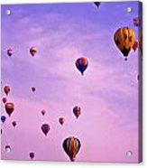 Hot Air Balloon Race - 1 Acrylic Print by Randy Muir