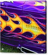 Hot Rod With Custom Flames Acrylic Print by Garry Gay