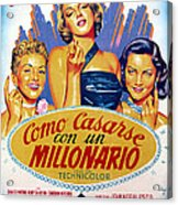 How To Marry A Millionaire, Betty Acrylic Print by Everett