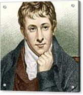 Humphry Davy, English Chemist Acrylic Print by Sheila Terry