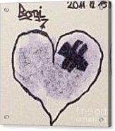 Hurting Heart Acrylic Print by Odon Czintos