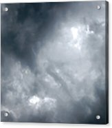 I Am No Storm Chaser Cloud Acrylic Print by Andee Design