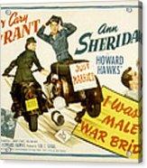 I Was A Male War Bride, Cary Grant, Ann Acrylic Print by Everett