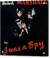 I Was A Spy, Herbert Marshall Acrylic Print by Everett
