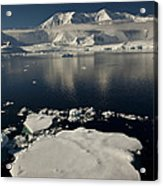Icefloe In The Neumayer Channel Acrylic Print by Colin Monteath