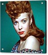 Ida Lupino, Ca. 1940s Acrylic Print by Everett