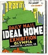 Ideal Home Exhibition Stamp, 1920 Acrylic Print by Cci Archives