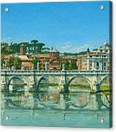 Il Fiumi Tevere Roma Acrylic Print by Richard Harpum