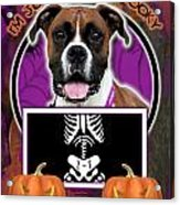 I'm Just A Lil' Spooky Boxer Acrylic Print by Renae Laughner