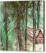 Imaginary Cabin Acrylic Print by Windy Mountain