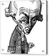 Immanuel Kant, Caricature Acrylic Print by Gary Brown