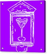 In Case Of Emergency - Drink Martini - Purple Acrylic Print by Wingsdomain Art and Photography