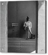 In The Doorway Acrylic Print by Robert Ullmann