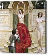 In The Venusburg Acrylic Print by John Collier