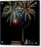 Independence Day In Dc Acrylic Print by David Hahn