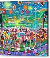Independence Day Venice Style Acrylic Print by Frank Strasser