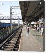 Indian Railway Station Acrylic Print by Sumit Mehndiratta